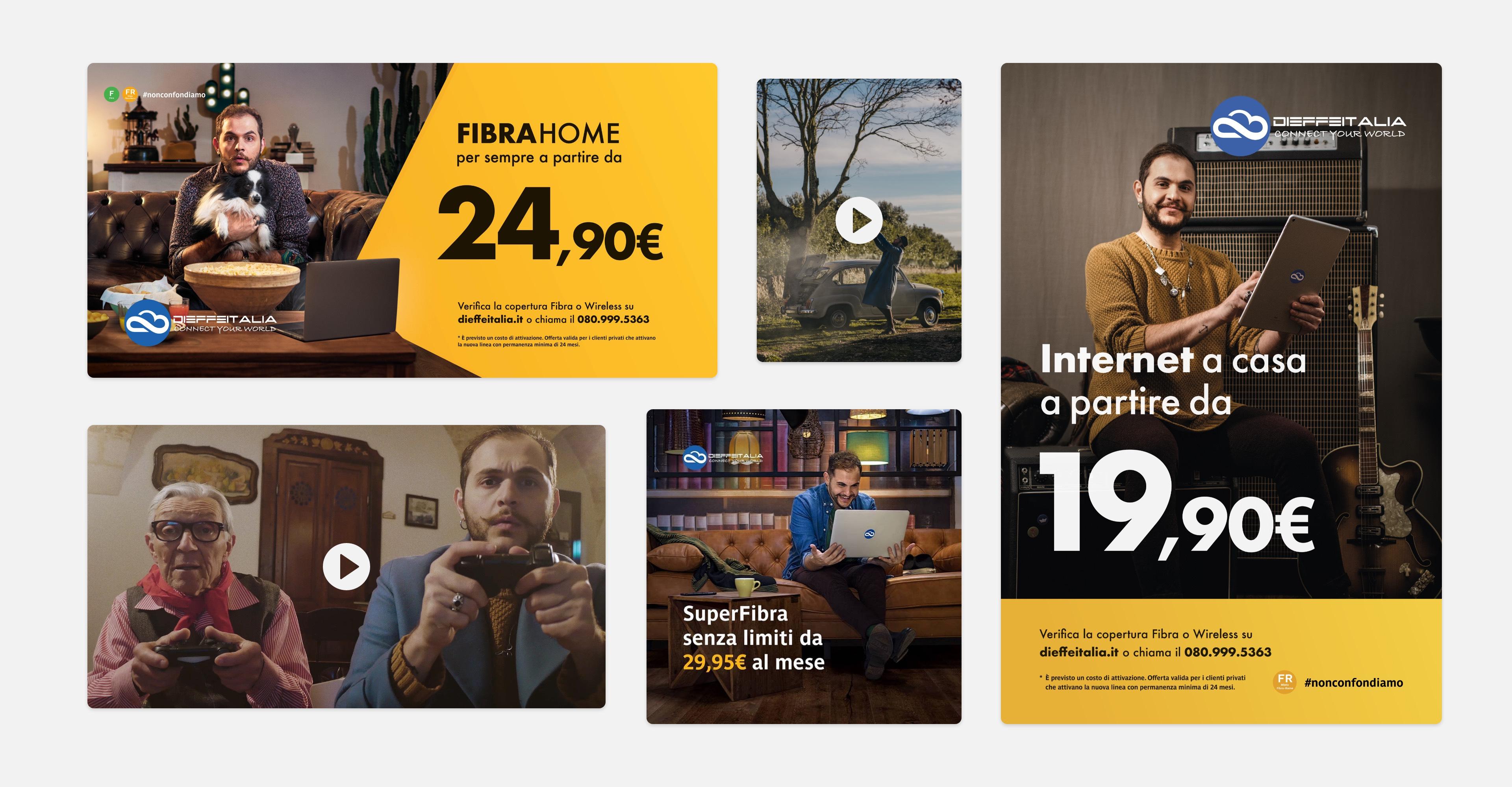 Graphic Design per campagne di Web Marketing - Dieffe Italia